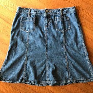 Dresses & Skirts - Personal Identity denim flare skirt